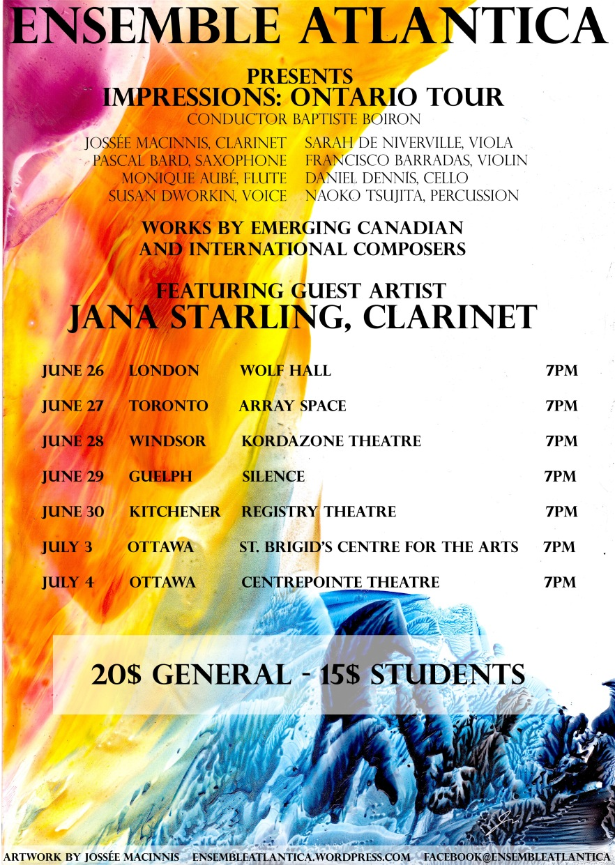 Ensemble Atlantica Tour Poster 2017